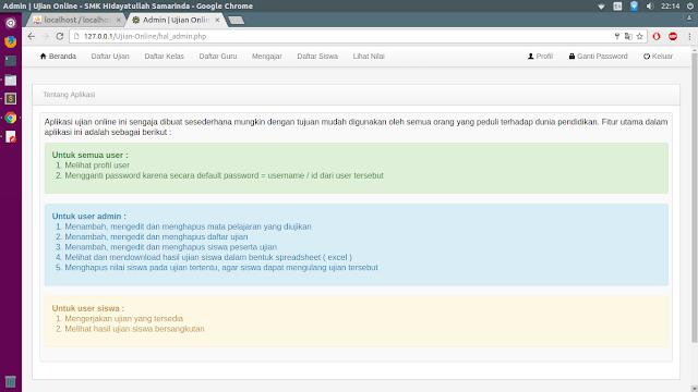 Source Code Ujian Online Dengan PHP MySQL dan Bootstrap