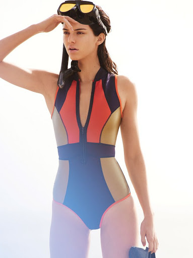 kendall jenner sexy swimsuit for vogue magazine models photo shoot