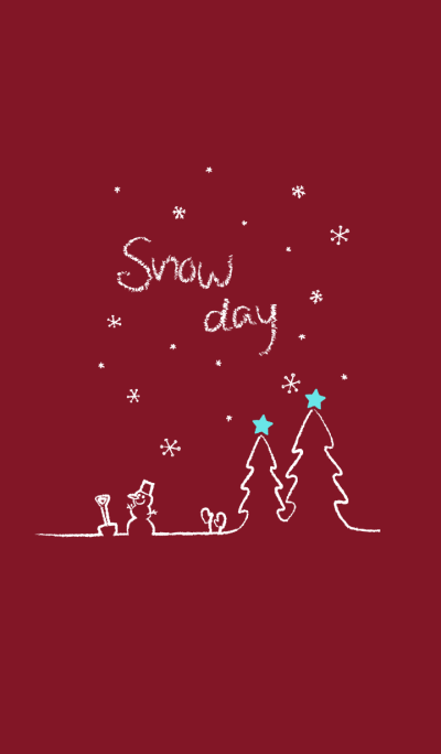 Snow Day ~wine red