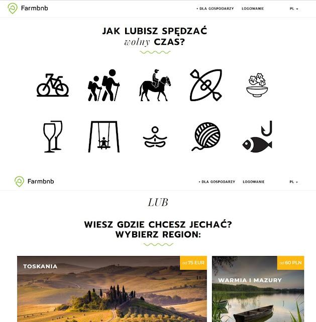Farmbnb - strona do wyszukiwanie nocelegów -miejsc na wypoczynek w zgodzie i blisko natury.