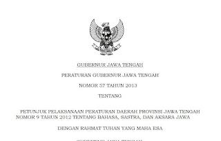 Alokasi Jam Pelajaran Bahasa Jawa di Jawa Tengah