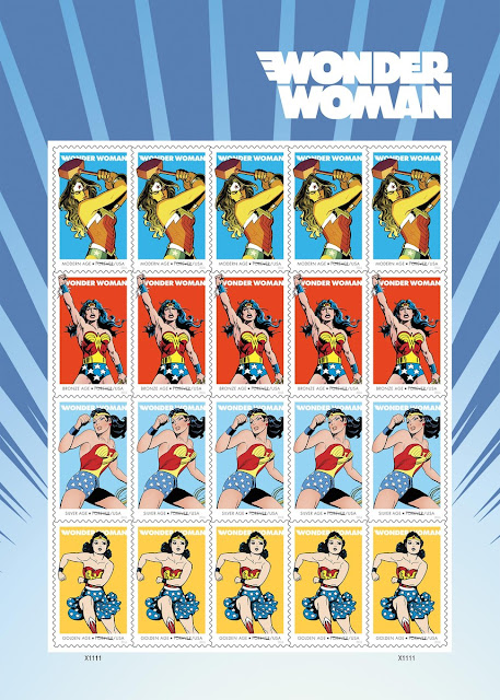 DC Comic's Announces Wonder Woman 75th Anniversary Postage Stamp