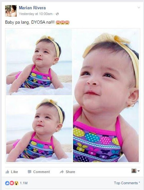 Netizens can't get enough of Baby Zia's cute swimsuit photo! Check this out!
