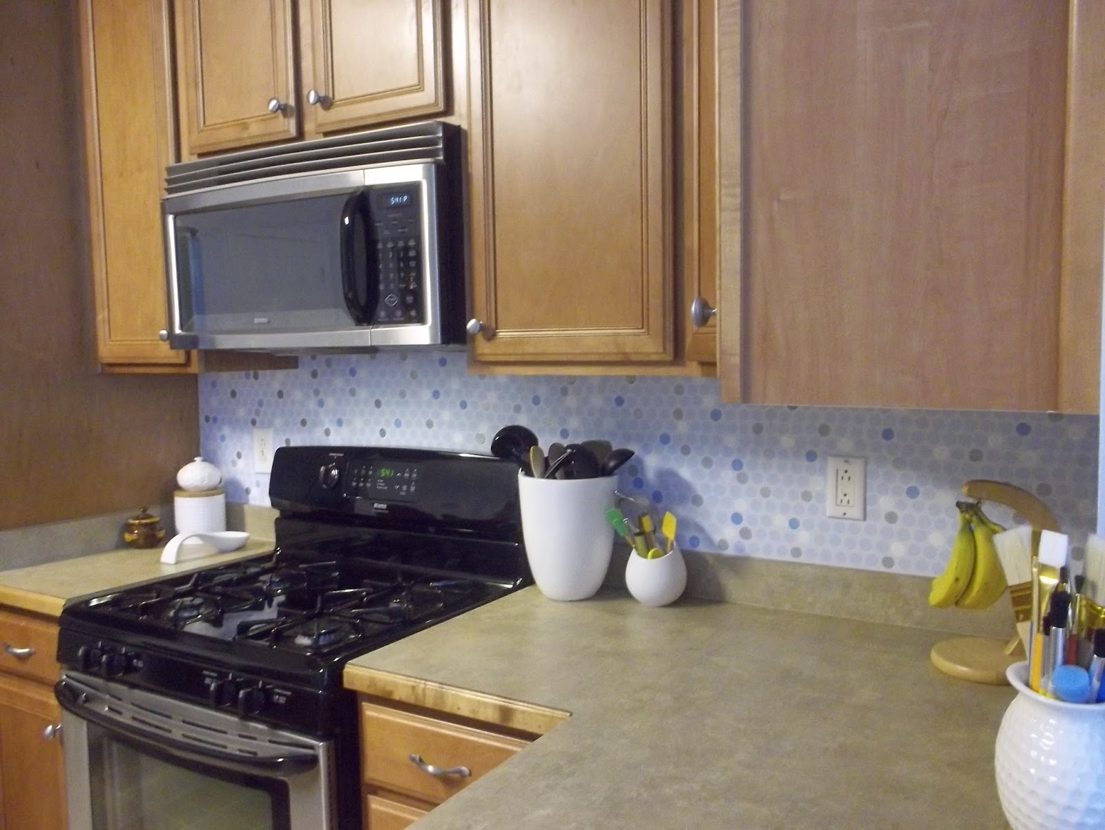 Penny Tile Backsplash Kitchen Free Standing Units My Painted Making It Worthy