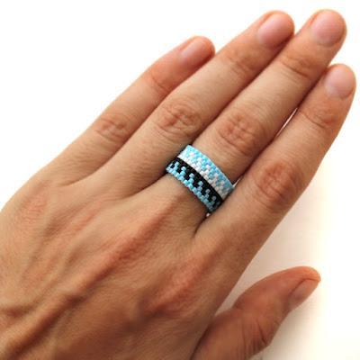 купить широкое кольцо с узорами цена бисерные кольца в этническом стиле