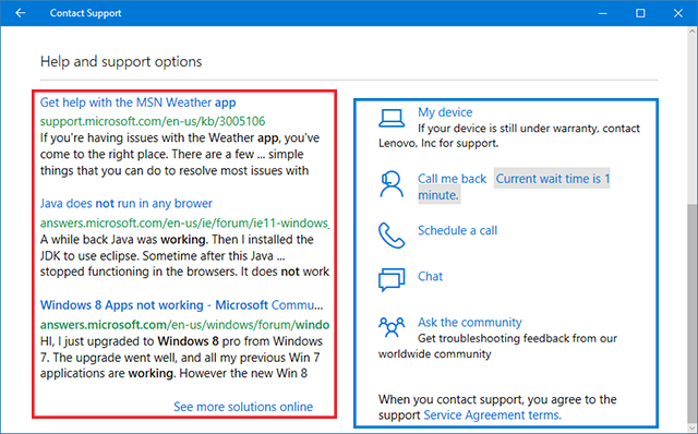 Microsoft Direct Technical Support to Solve Users' Problems
