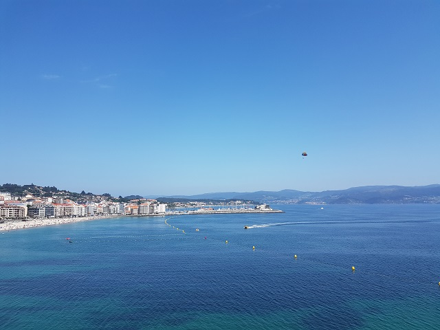 Vistas desde el hotel de la playa de Silgar