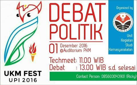 Ketentuan Umum Lomba Debat Politik UKM Fest UPI 2016