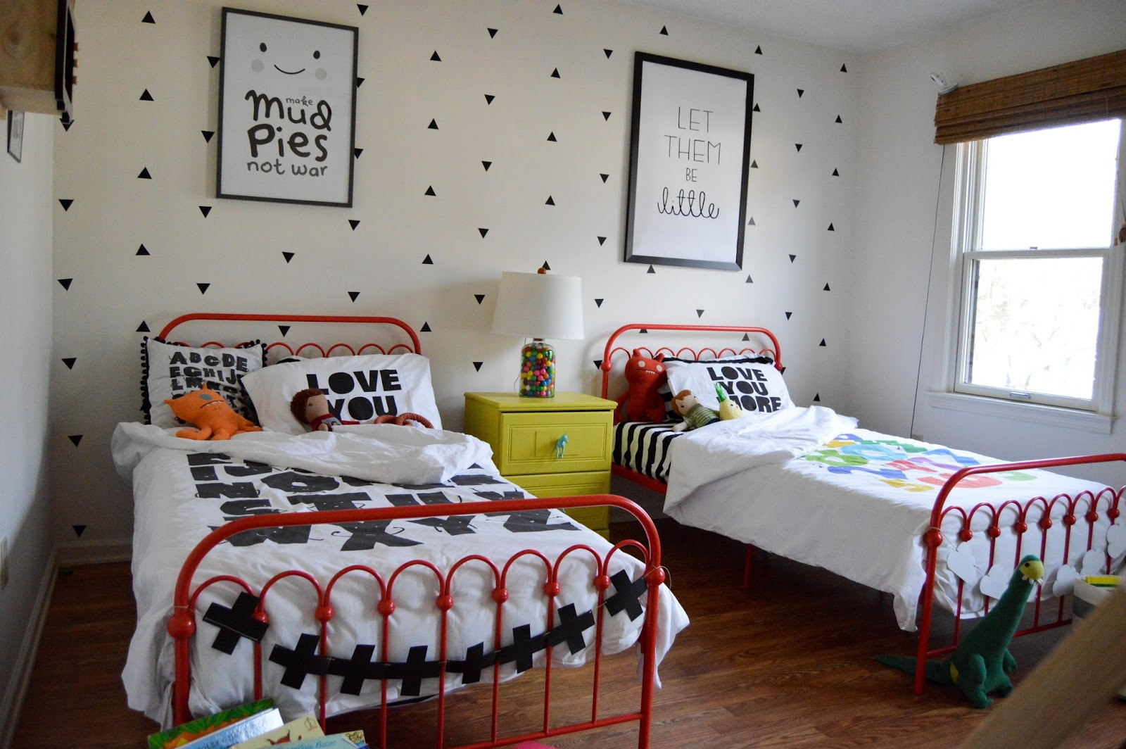 the boo and the boy: shared boys' room