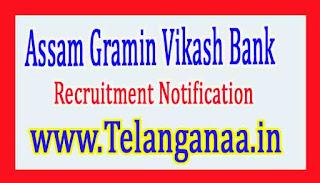 Assam Gramin Vikash Bank AGVB Recruitment Notification 2017