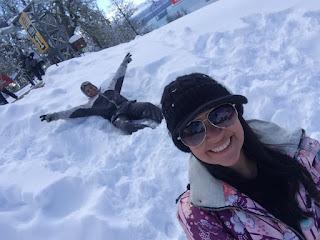 Curtindo a neve no parque Piedras Blancas em Bariloche