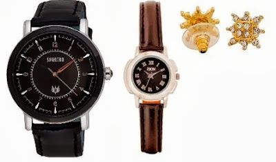 Flat 50% + Extra 10% Discount on Men's / Women's Watches at HomeShop18