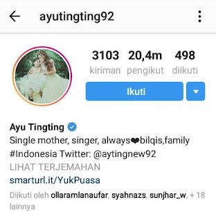 Profil Instagram Ayu Ting Ting Untuk Menambah Follower Instagram