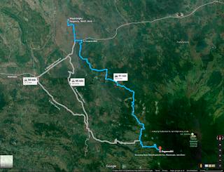 Peta jalur pendakian Gunung Ciremai via Apuy