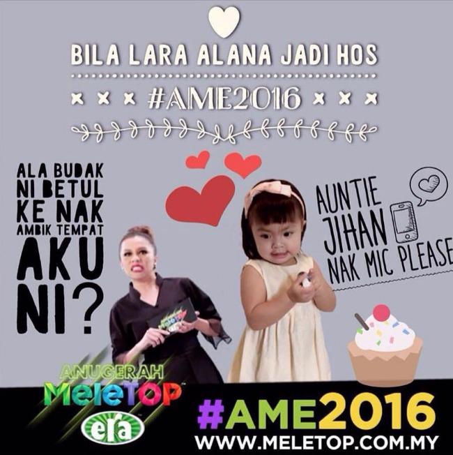 Lara Alana Anugerah Meletop Era 2016
