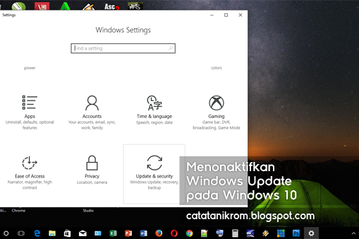 Catatan Ikrom Menonaktifkan Windows Update pada Windows 10