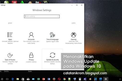 Catatan Ikrom Menonaktifkan Windows Update pada Windows 10