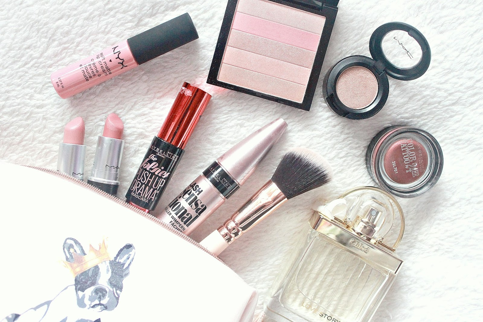 Valentines Day Inspired Makeup Flatlay
