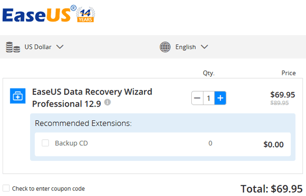 EaseUS Data Recovery Wizard Coupon Discount Code