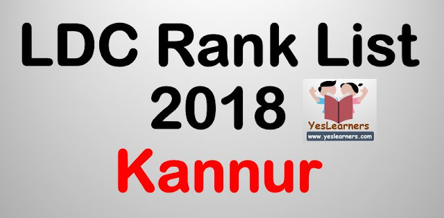 LDC Rank List 2018 - Kannur
