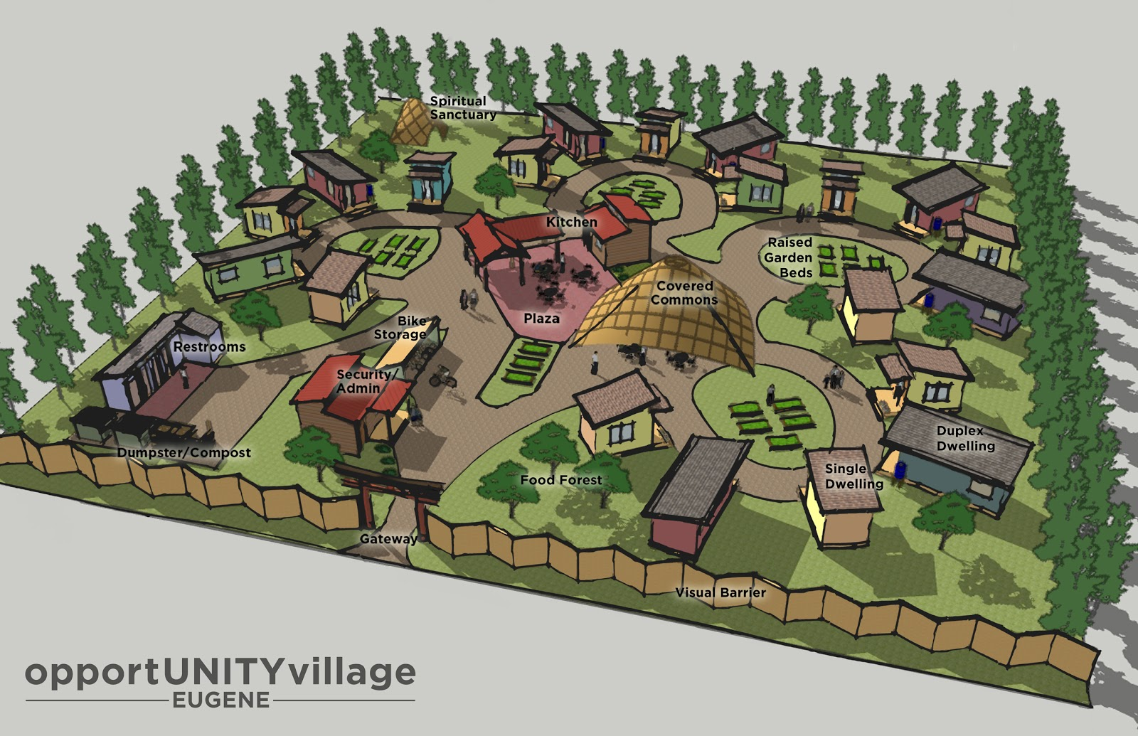 Floor Plan Grid Opportunity Village Concept Plan Tent City Urbanism