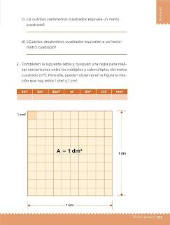 Apoyo Primaria Desafíos Matemáticos 5to Grado Bloque III Lección 53 Unidades de superficie
