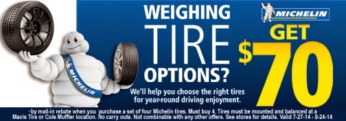 Michelin Tire Rebate and Coupons June 2018