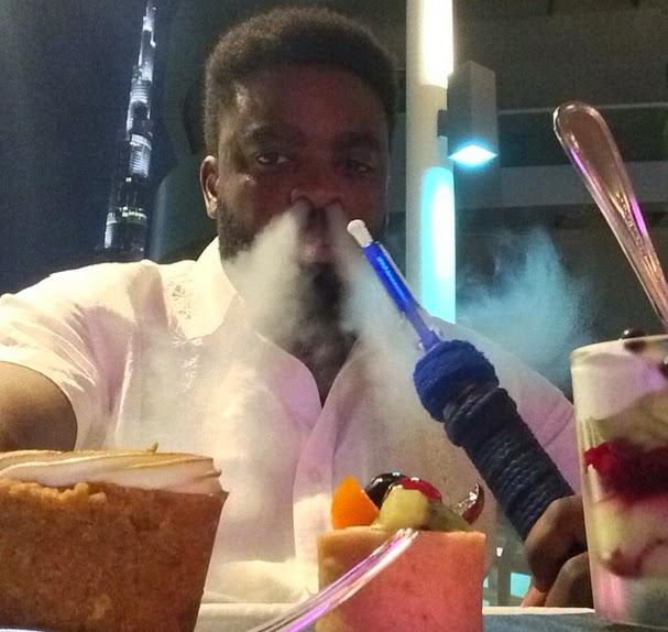 kunle afolayan smoking shisha