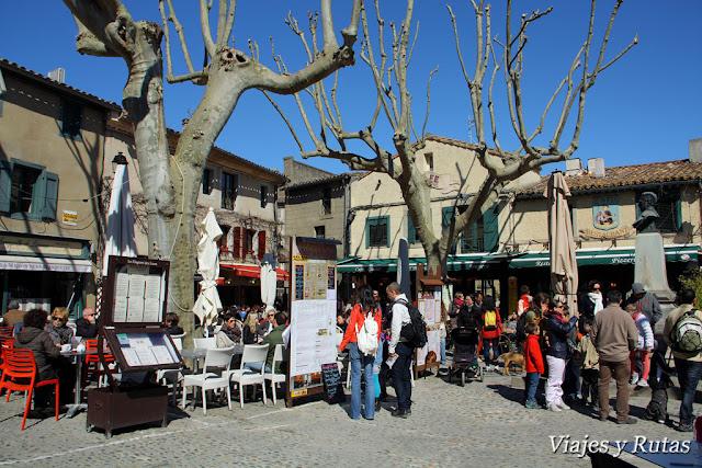 La plaza Marcou, Carcassonne