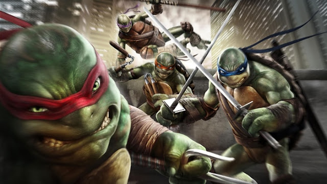 4 Tortues Ninjas Attaquent - Fond d'Écran en Full HD