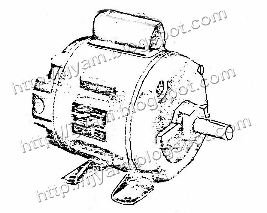typical 220v motor wiring