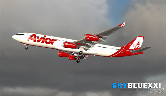 Avior Airlines A340-300 BlackBox Simulations F-WTDH Texture