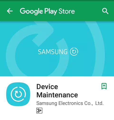Samsung released device maintenance app on Play Store