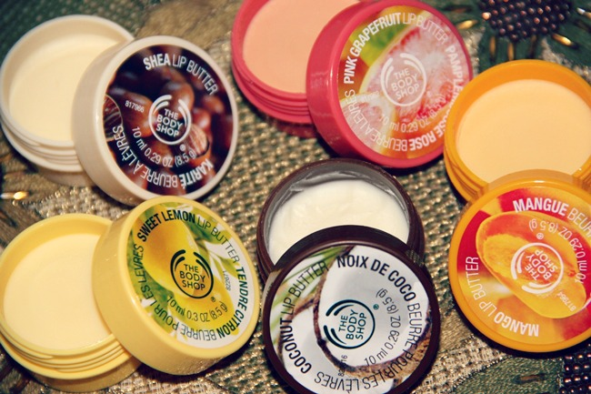 The Body Shop 5 lip butter set