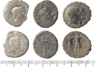 Roman coin hoard found in city field