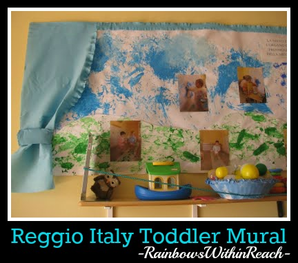 "Reggio Emilia Italy Toddler Painted ""Open-Ended"" Media Exploration Transformed into Display Product via RainbowsWithinReach"