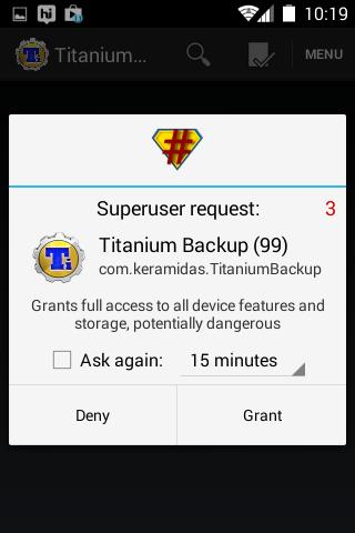 grant Titanium Backup