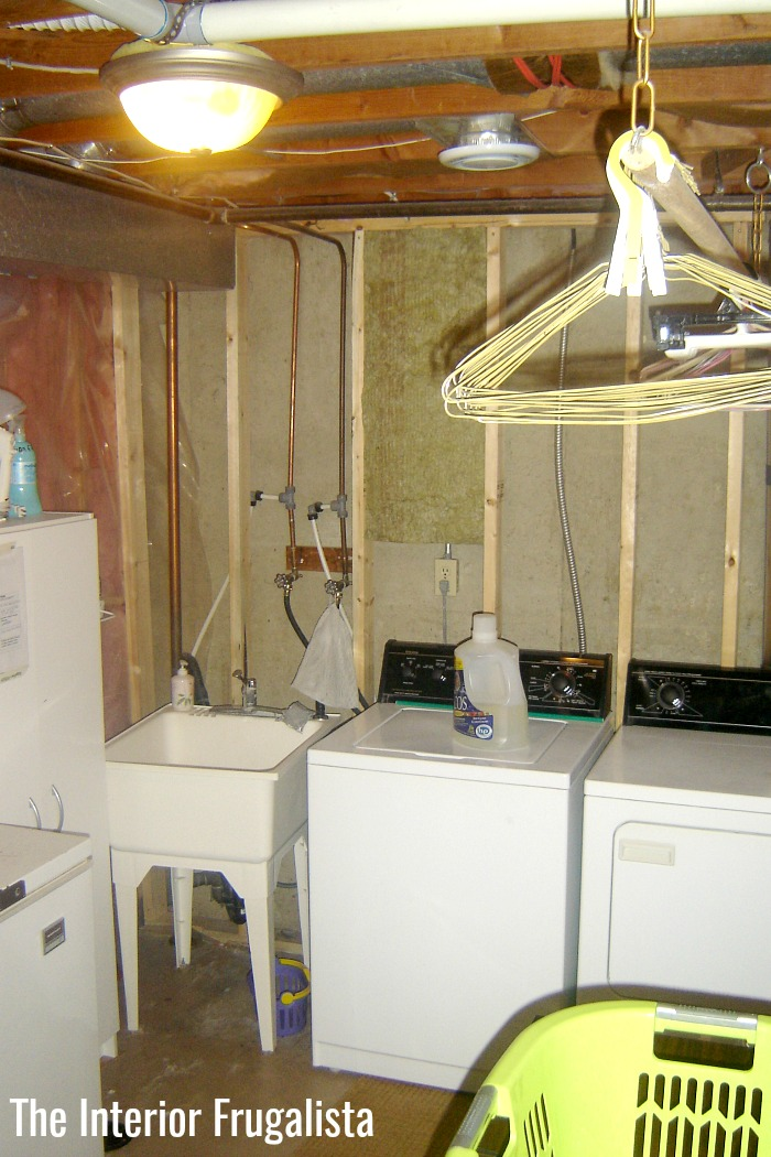 Basement Laundry Room Before First Makeover