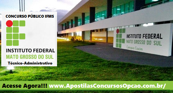 concurso Instituto Federal do Mato Grosso do Sul - IF-MS