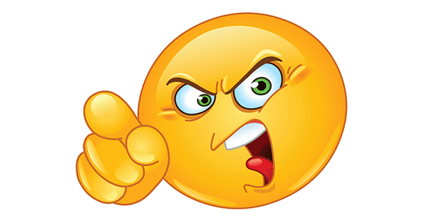Angry and Pointing | Symbols & Emoticons