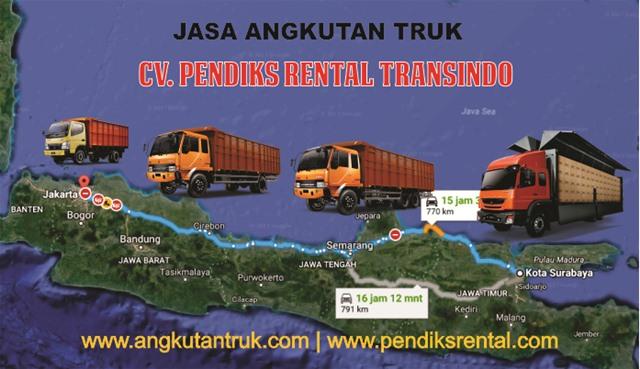 Harga Sewa Truk Jakarta Surabaya