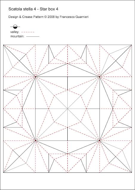 Origami CP: Scatola a stella 4 - Star box 4 by © by Francesco Guarnieri