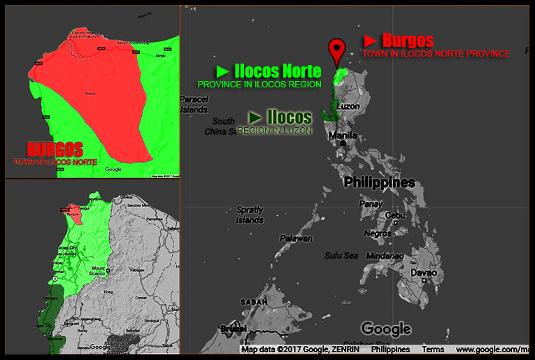 MAP OF BURGOS, ILOCOS NORTE