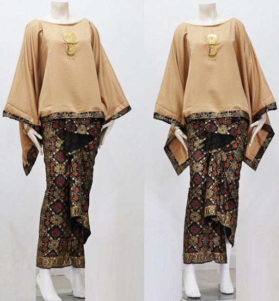 Baju Batik Kombinasi Batik: Gambar Model Baju Gamis Batik Remaja Atasan Polos Couple