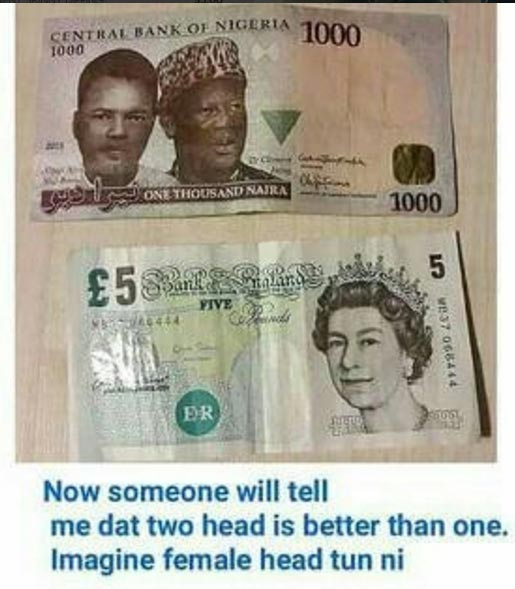 Lol. This people have started dissing our naira again
