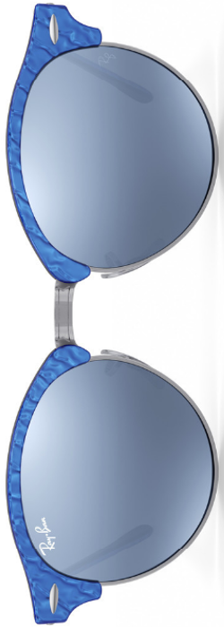 Ray-Ban Clubround Silver Flash