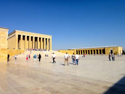 Ceremonial Plaza of Anitkabir Ankara Turkey
