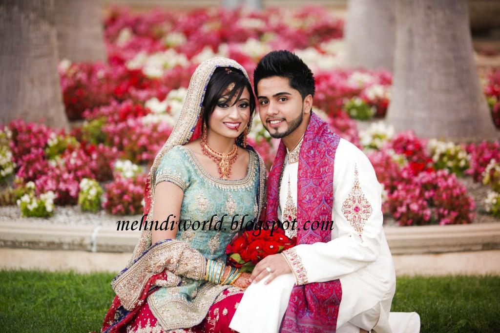Pakistani Couple Poses Indian Picturesque Wedding Wwwpicturesbosscom
