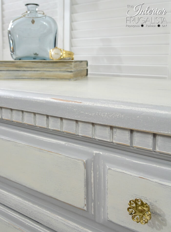 Farmhouse Dresser Makeover Antque Brass Knobs