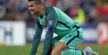40a44c8e7444 Not Recommended - Cristiano Ronaldo Laces Up in SG Boots on Artificial  Grass Pitch